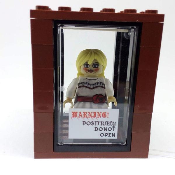 Custom LEGO Annabelle Doll Minifigure with Case