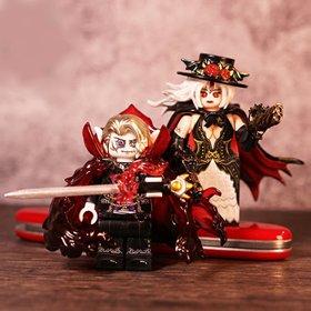 Custom Lego Minifigures Halloween Couple