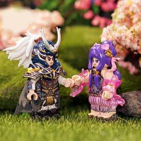 Custom Lego Minifigure Zhou Yu (周瑜) & Xiao Qiao (小乔)