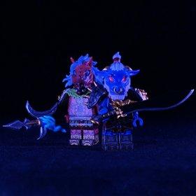Custom Lego Minifig Ox-Head & Horse-Face Guards (牛头马面)