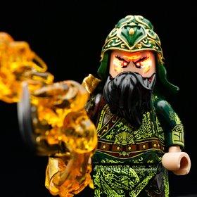 Custom Lego Minifigure Guan Yu (关羽) - Dynasty Warrior