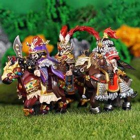Custom Lego Minifigures Dong Zhuo (董卓), Lu Bu (吕布) & Hua Xiong (华雄)