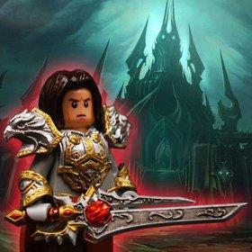 Custom Lego Minifigure Varian Wrynn - Warcraft